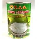 Coco em fatias enlatado Young Coconut / T.A.S 565g