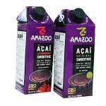 Amazoo / Suco de Acai c/Morango (750ml) + Suco de Acai Original (750ml)