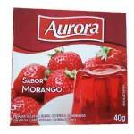 Gelatina em Po Aurora / Sabor Morango (40g)