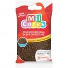 Confeito Micanga Sabor Chocolate Mavalerio Mil Cores (80g)