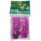 Forminhas Aluminizada Polipel N.5/ Cor Rosa Choque (100un)