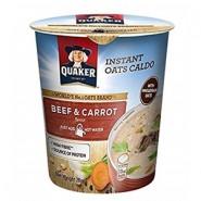 Quaker Instant Oats Caldo /Beef & Carrot/ Caldo Instantaneo Aveia c/Bife e Cenoura (28g)
